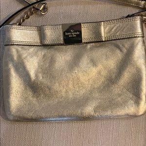 Kate Spade gold leather shoulder bag